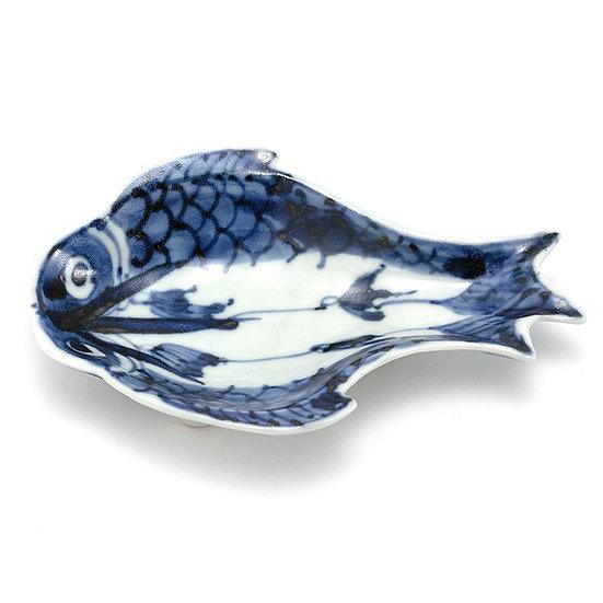 加藤幸治 染付魚形豆皿