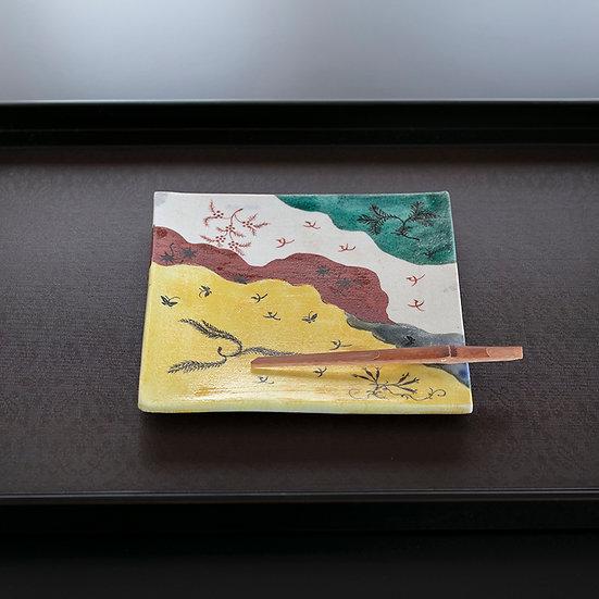 初代 川瀬竹春 石山切意菓子器(5客揃)