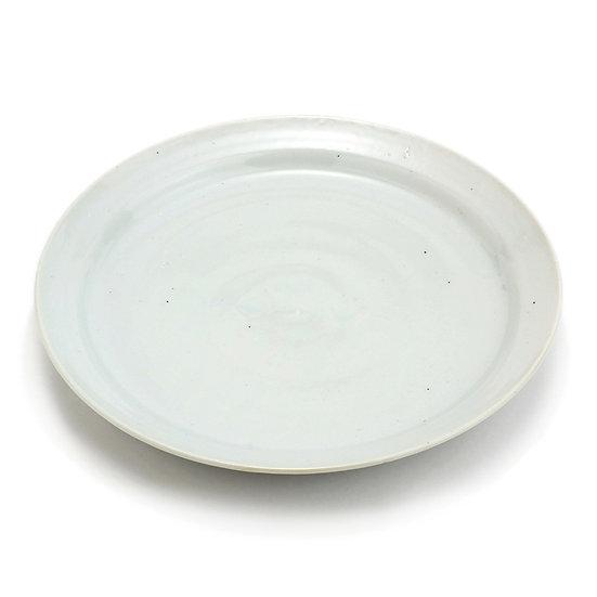 加藤幸治 白磁リム八寸皿