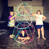 Three levels up of our hoop tower!! Next week we are going to try and get four...jpg