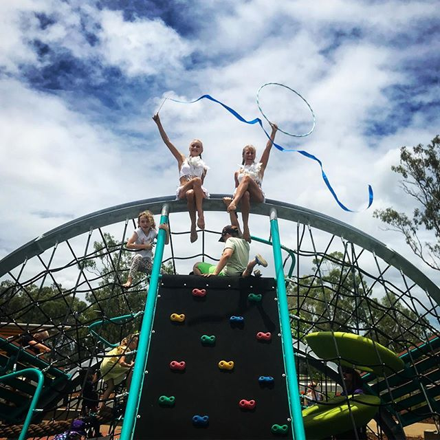 The Meraki Circus Angels had fun playing at the Lions Park official opening in Gladstone today! If y