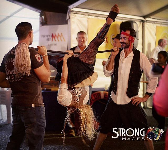 These rogue pirates having a little fun and getting up to mischief at the Sail Away Sponsors Party f