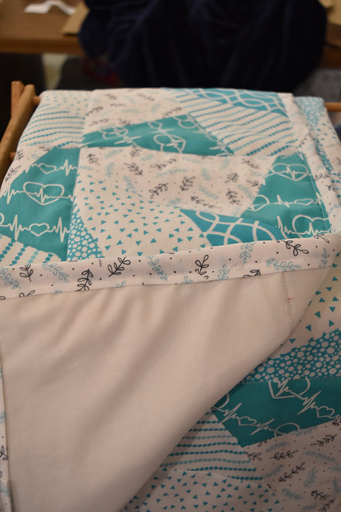 Teal Nurse Blanket