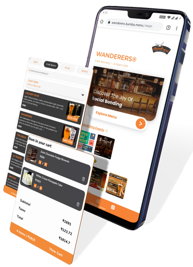 User friendly interface with customized colors, digital menu, ordering and much more