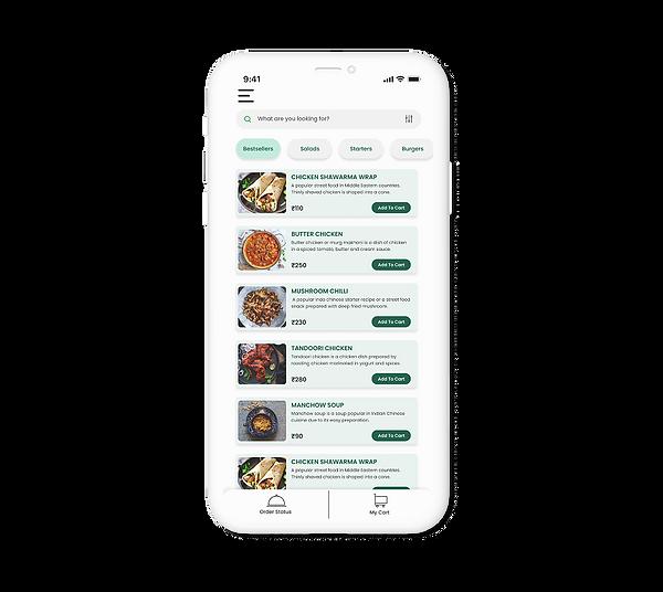 Digital Menu, Digital Ordering
