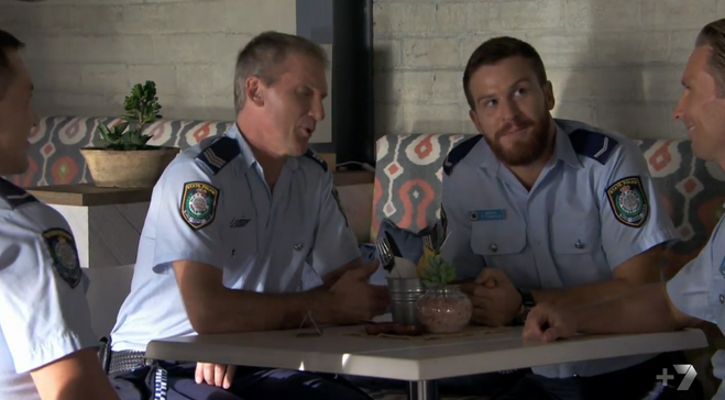 Nick Cain as Constable Thompson in 'Home & Away'