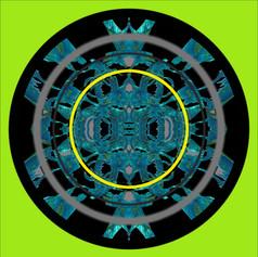 Children of God, digital art by artist Marcus Callum, AI, nanotechnology, blue goo