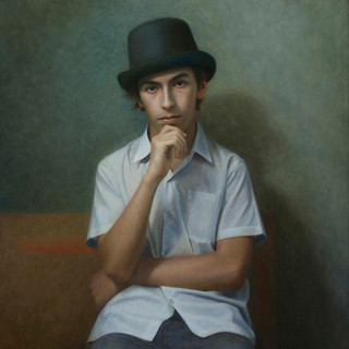 Portrait of the Artist as a Young Man, commission a portrait artist to create a contemporary portrait painting