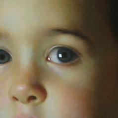 Bruno detail portrait commission a portrait artist Australia