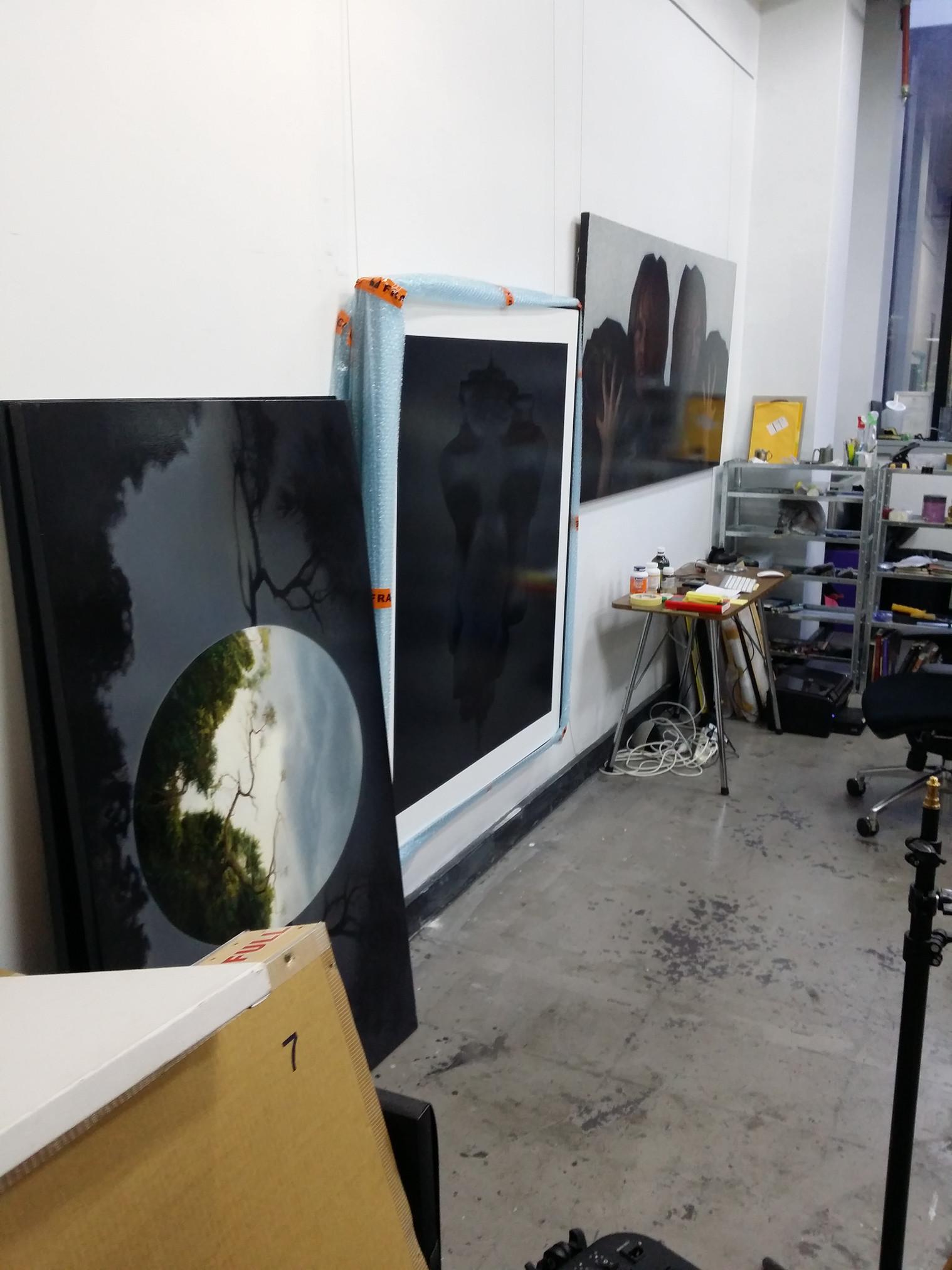 Studio of contemporary portrait artist Marcus Callum