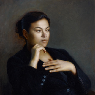 Portrait of a Seated Woman, commission a portrait artist to create a contemporary portrait painting