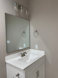hall bath counter