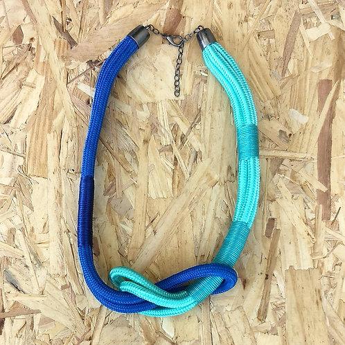 Colar Azul de Corda Náutica - Lyra