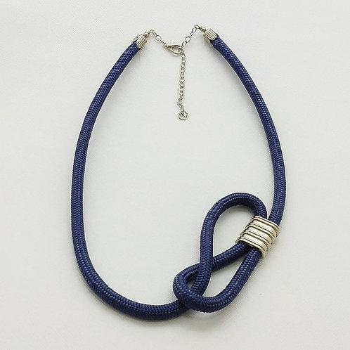 """Colar de Corda Náutica Azul """"Jeans"""" - Juliet"""