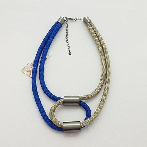 Colar de Corda Náutica Azul Royal&Bege - Dorothy