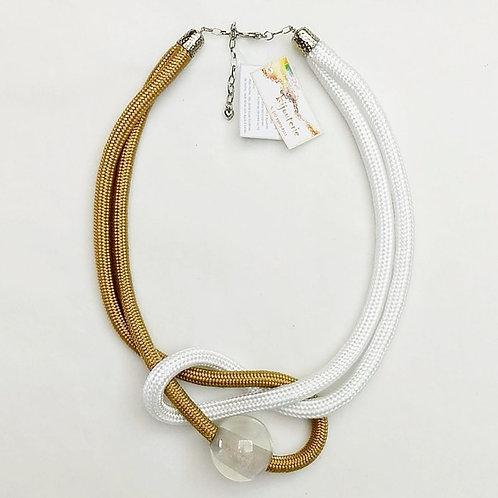Colar de Corda Náutica Bege e Branco - Lyra