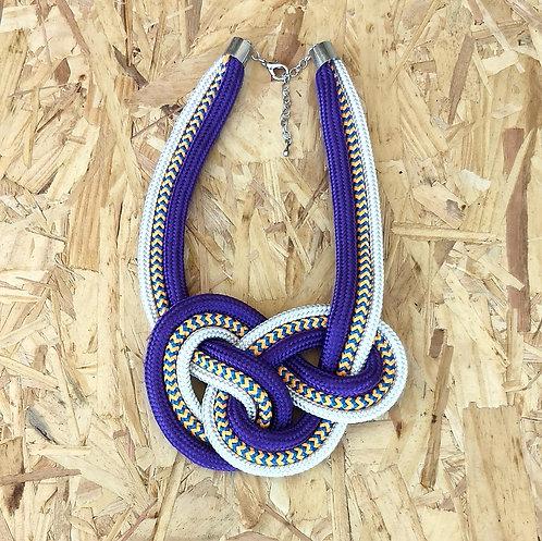Colar Violeta e Colorido em Corda Náutica - Enya