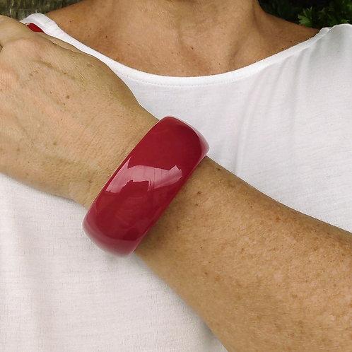 Bracelete de Resina Vermelho Rosê