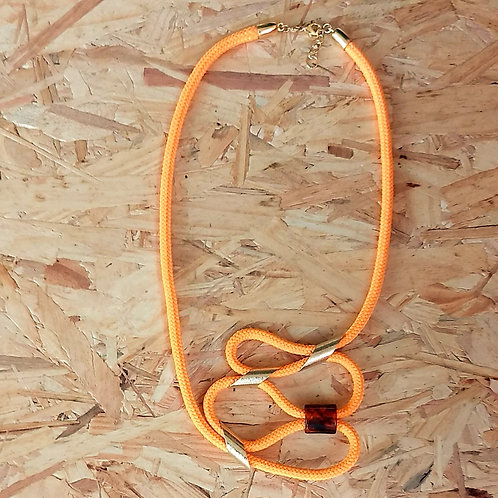 Colar Laranja de Corda Náutica - Orange