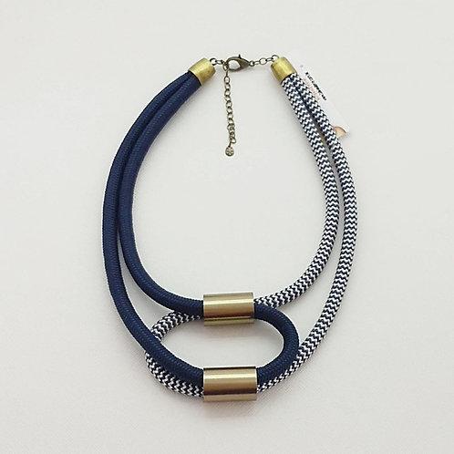 Colar de Corda Náutica Azul Marinho - Dorothy