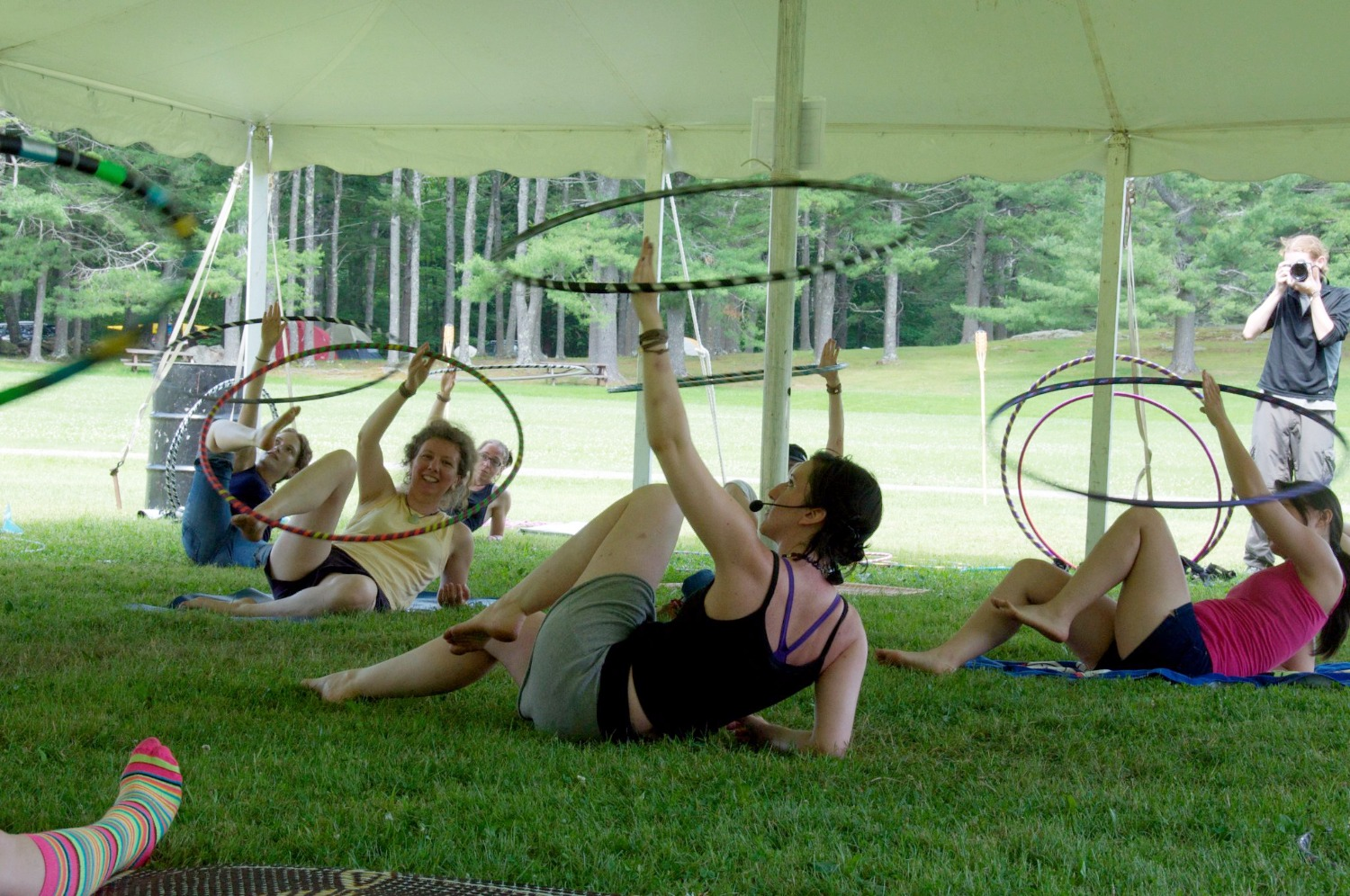 Lulu Hoop teaching