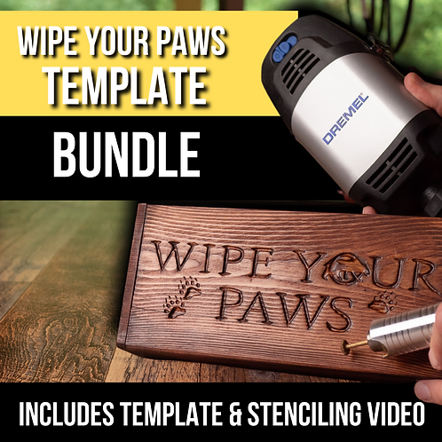 Wipe Your Paws Wood Carving Templates & Stenciling Video