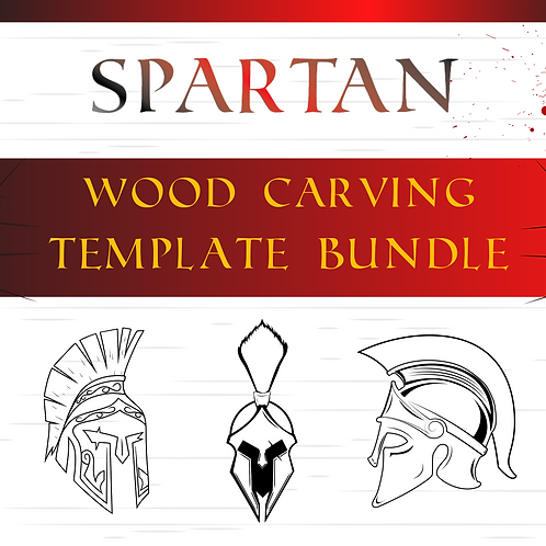 Spartan Wood Carving Template Bundle
