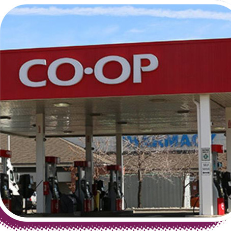 Cochrane North, CO-OP Gas bar and Settler's Green