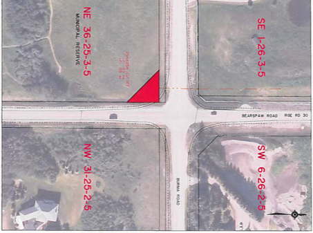 Bearspaw parcel approved, lands approved for turn lanes off Burma Rd, Bearspaw resevoir task force
