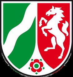 Das Landeswappen von Nordrhein-Westfalen darf Notar Raupach von Amts wegen führen