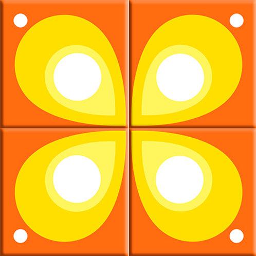 Mod Flod - Orange (4-Tile Mural)