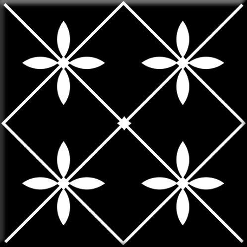 Glass - Black / White (Single Tile)
