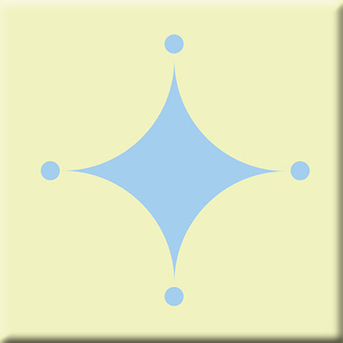A-Boo - Light Blue / Yellow (Single Tile)