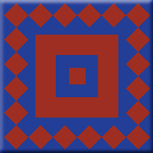 Checkers - Blue / Red (Single Tile)