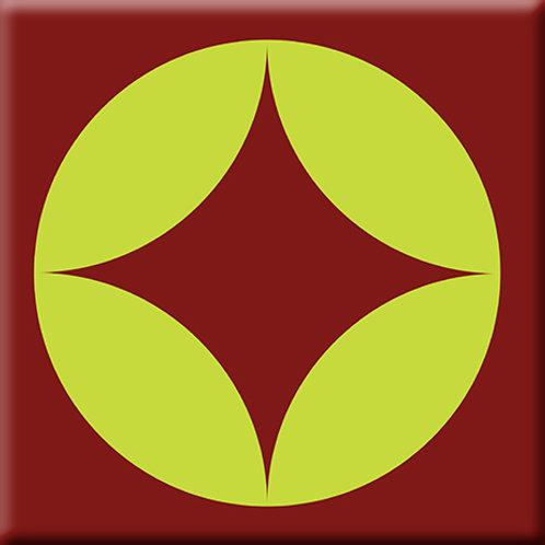 Peek - Green / Burgundy (Single Tile)