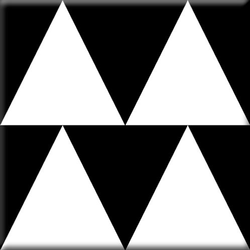 Up and Down - Black / White (Single Tile)