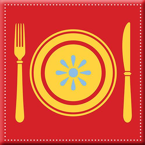 Let's Eat - Red (Single Tile)