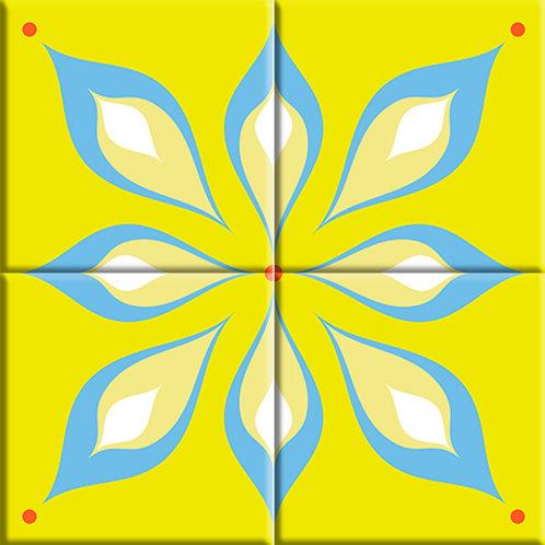Mod Flair - Green (4-Tile Mural)