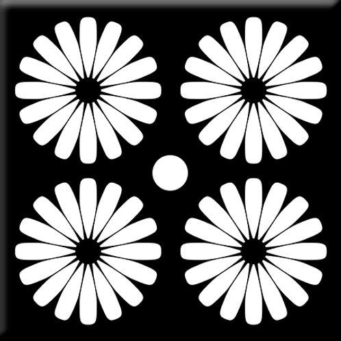 Pinwheels - Black / White (Single Tile)