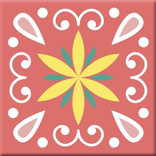 Heirloom - Pink (Single Tile)
