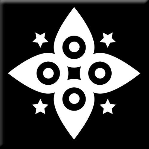 Morning Star - Black / White (Single Tile)