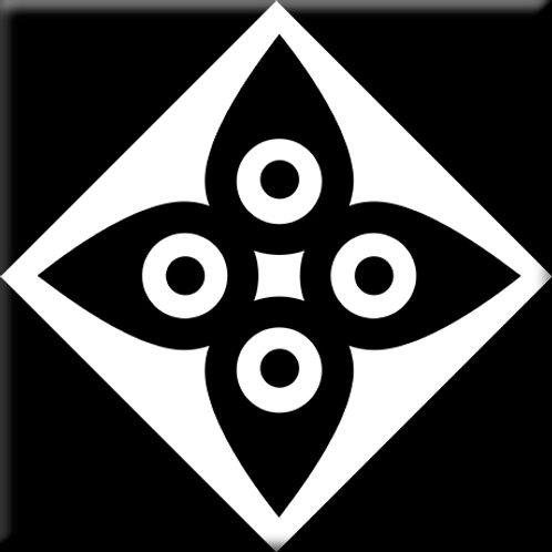 Compass - Black / White (Single Tile)