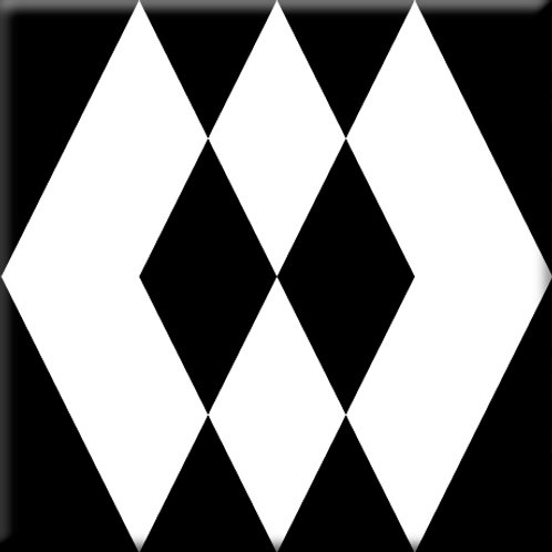 Prism - Black / White (Single Tile)