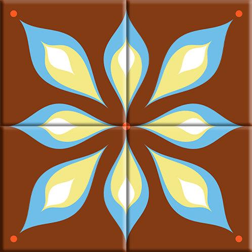 Mod Flair - Brown (4-Tile Mural)