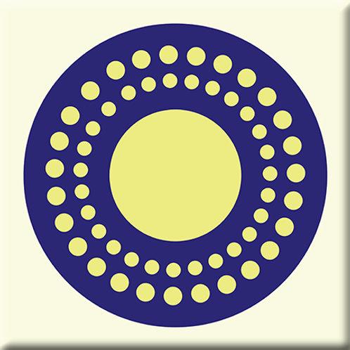 Sunshine - Blue / Yellow (Single Tile)