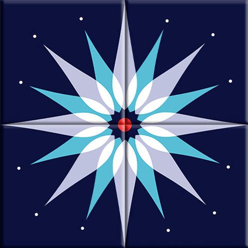 Mod Dew - Blue (4-Tile Mural)