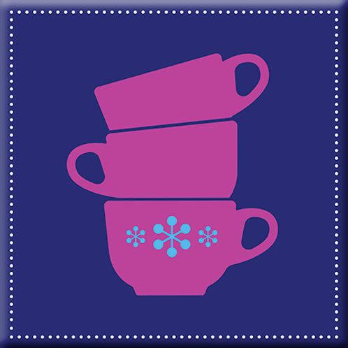 Coffee Time - Blue / Purple (Single Tile)