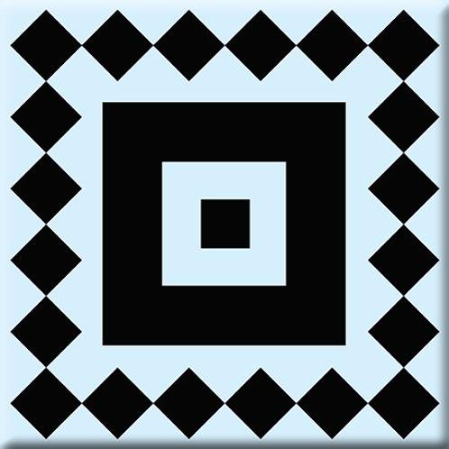 Checkers - Black / Light Blue (Single Tile)