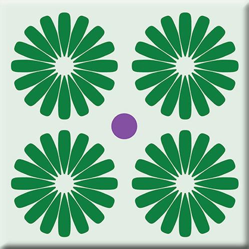 Pinwheels - Green (Single Tile)