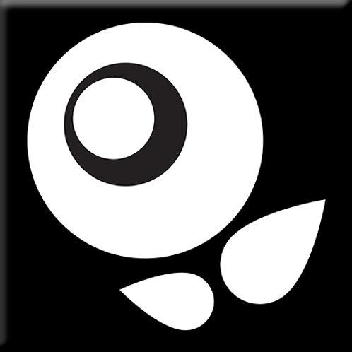 Bloom Bud - Black / White (Single Tile)